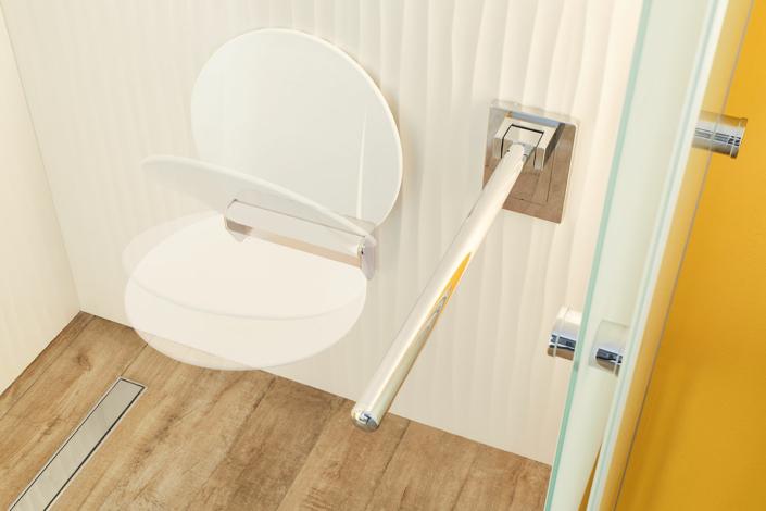 Duschsitz und Haltestange klappbar sanibel
