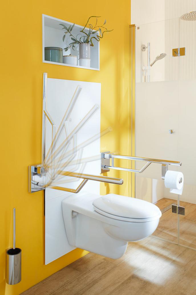 Haltegriffe klappbar, WC elektrisch höhenverstellbar