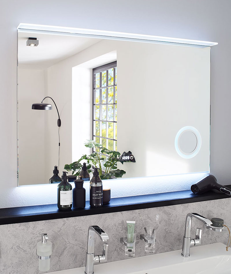 Leuchtspiegel Glassegel sanibel