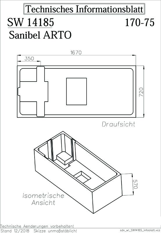 sanibel-Wannenträger für ARTO Quaryl- Badewanne Solo A18 ...
