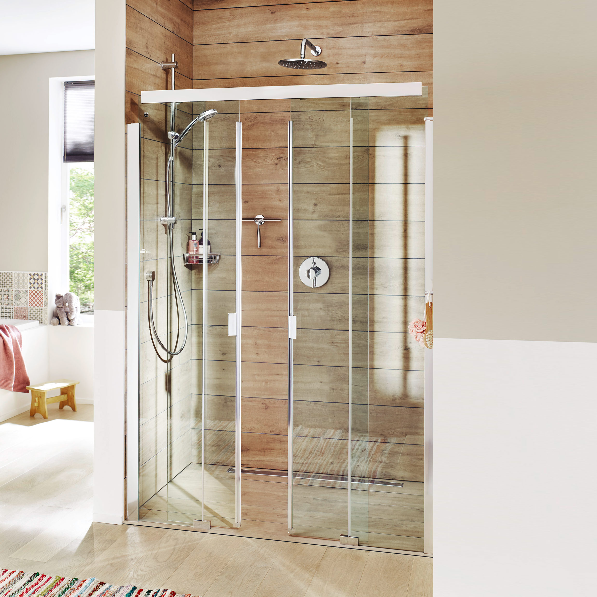 serie 3001 duschabtrennungen slide. Black Bedroom Furniture Sets. Home Design Ideas